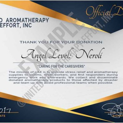 Angel Donor Subscription Neroli Certificate